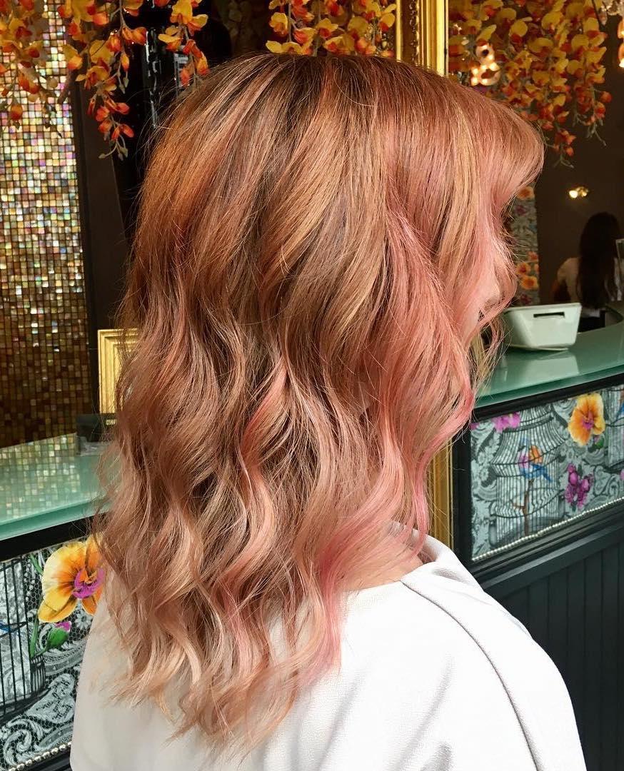 Pink peach highlights by Sorina