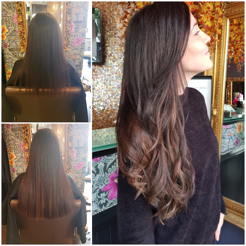 Before, During & After — Great Lengths Hair Extensions by Louise (75 pieces of 45cm)