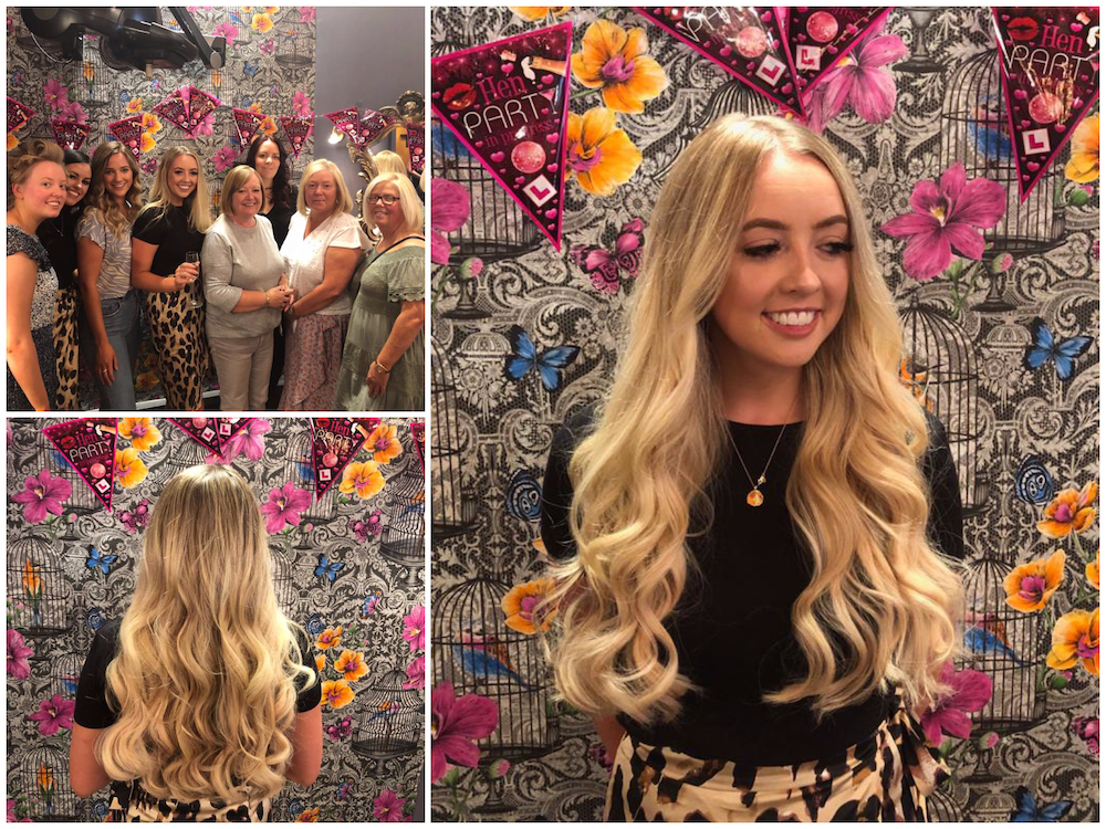 Great Lengths Hair Extensions by Louise & Colour by Joan. With additional styles by our C&A Stylists for a wedding party hen's day.