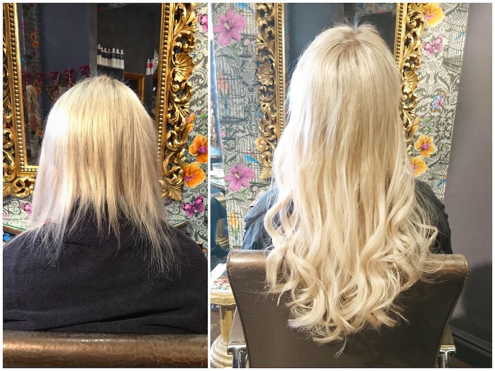 Before & After — Gold Fever Extensions by Rachel (90 pieces of 40cm)