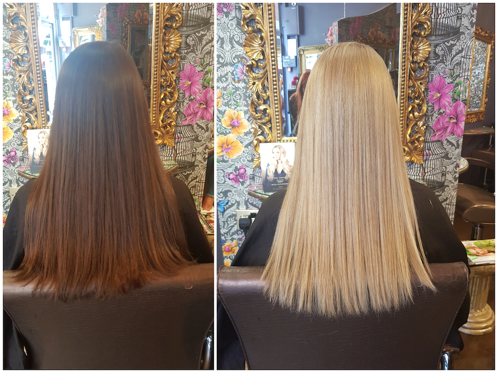 Before & After — Colour Change by Louise (Brunette to Blonde)
