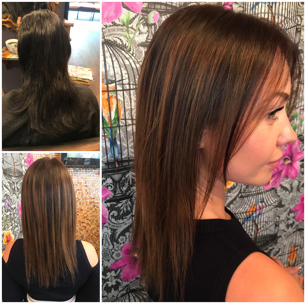 Before & After - Corrective Colour (& Cut) by Melissa