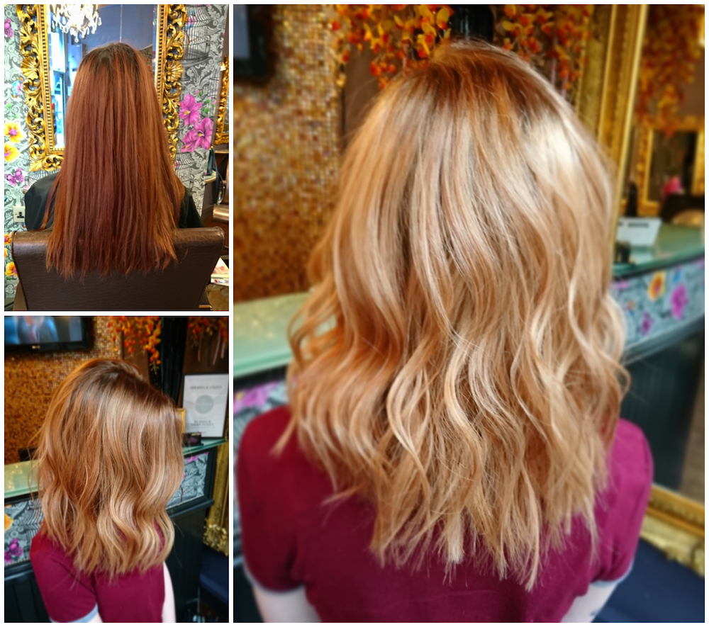 Highlights by Rachel (with a toner root shadow)