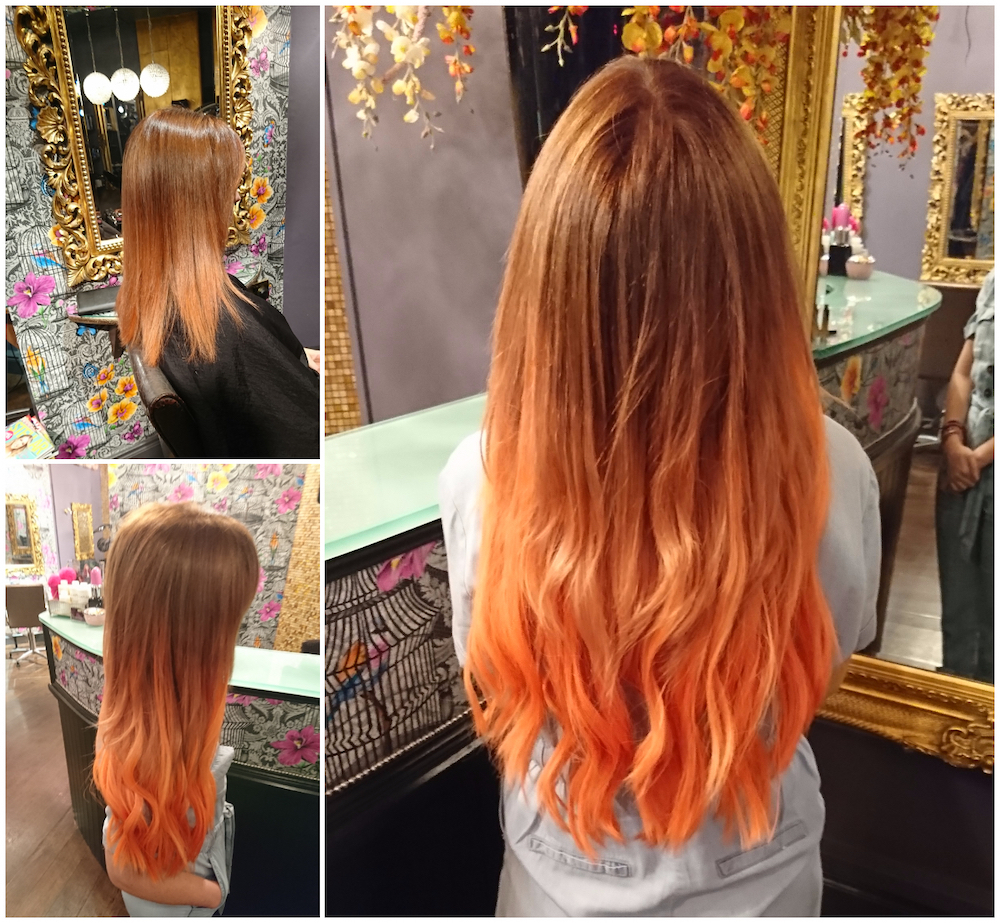 Before & After — Great Lengths Tape Extensions by Megan (with additional colour)