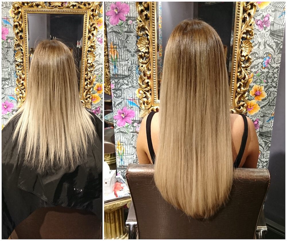 Before & After — Great Lengths Extensions by Rachel (125 pieces of 45cm)
