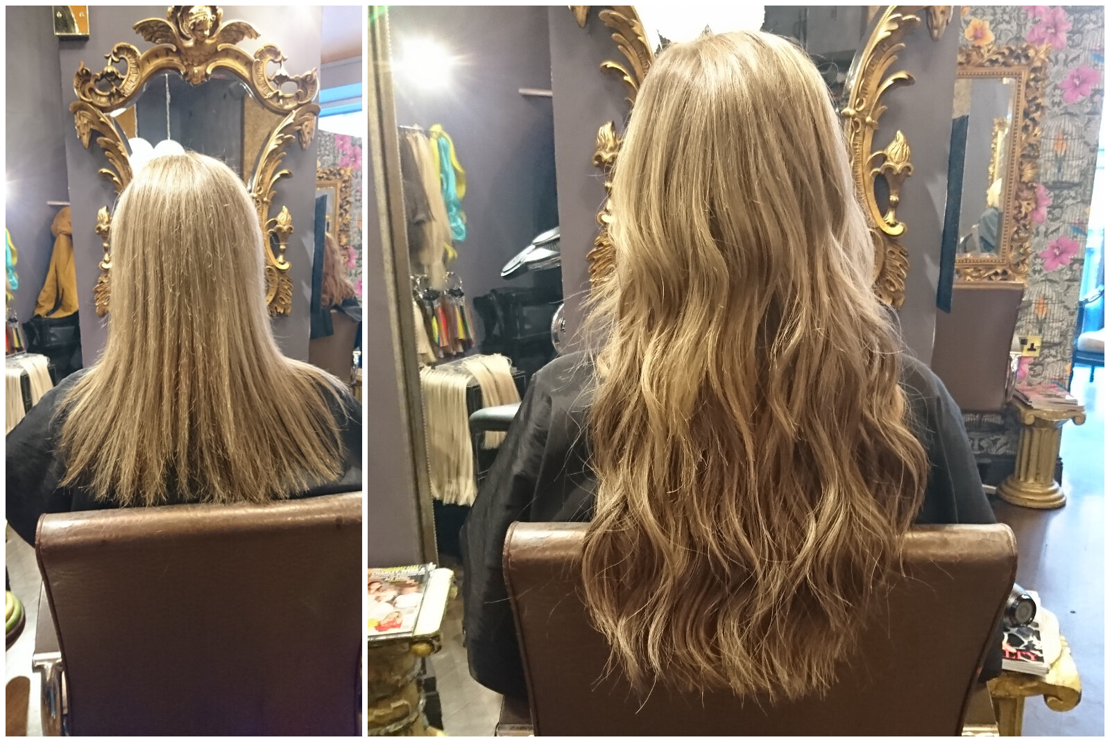 Before & After ― Great Lengths Tape Extensions by Rachel (25 Strips of 45cm)