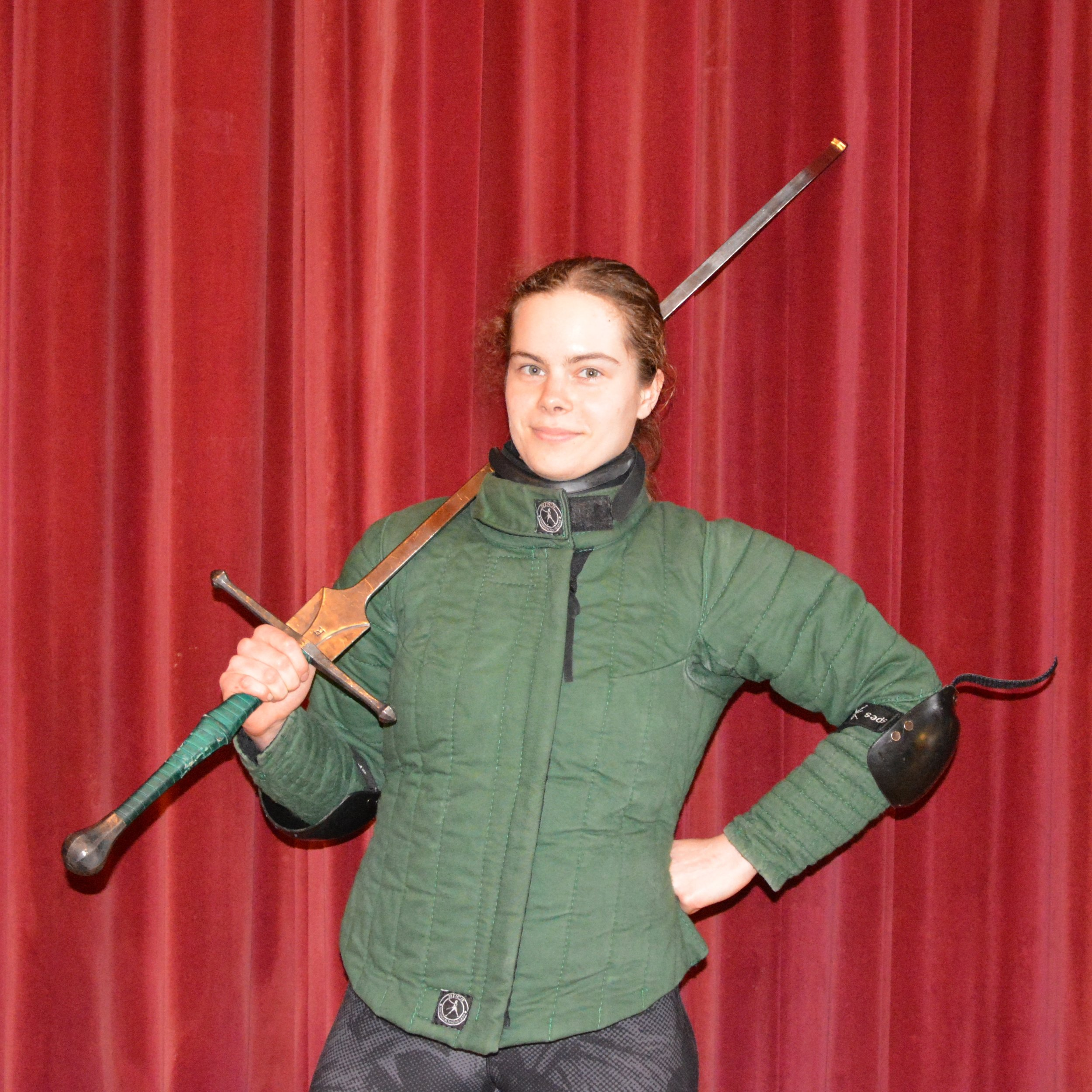 Anezka Havilkova - Vice-President, Co-Founder of Glasgow HEMADisciplines Studied: German Longsword, Messer and Sword and BuckerI started practicing HEMA in 2016 when I joined Glasgow University Historical Arts society, and I quickly fell in love with sword fighting, which led me to training with Academy of Historical Arts too.I helped found Glasgow HEMA in order to make HEMA accessible to as many people as possible. I have a special interest in introducing women to the sport.