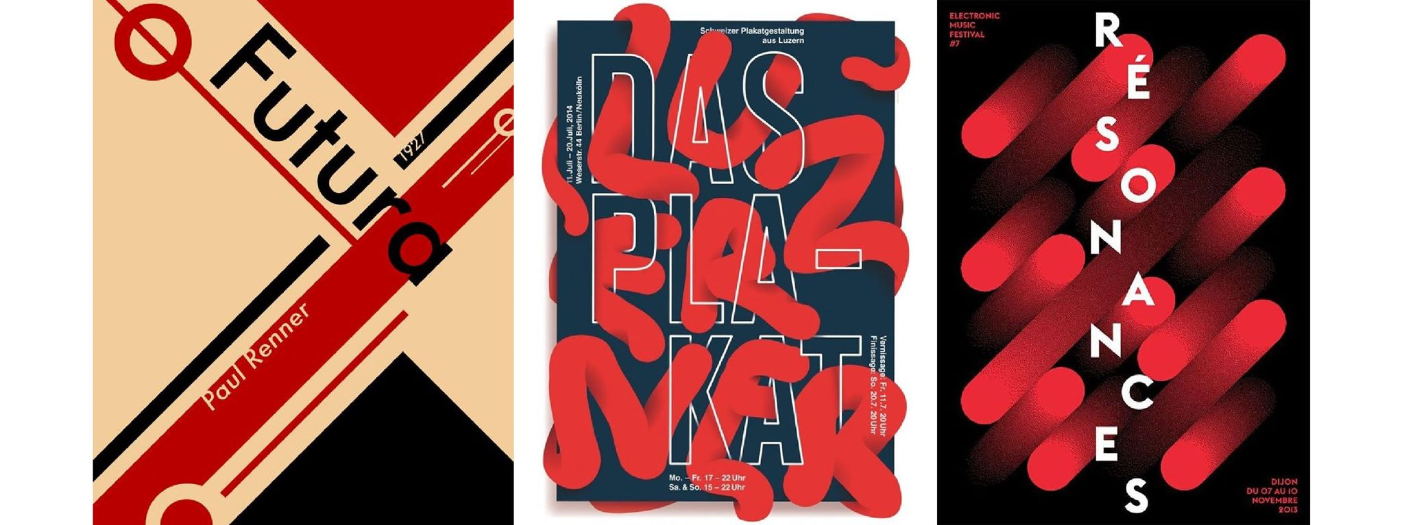 Modern typographic posters are just abstract paintings
