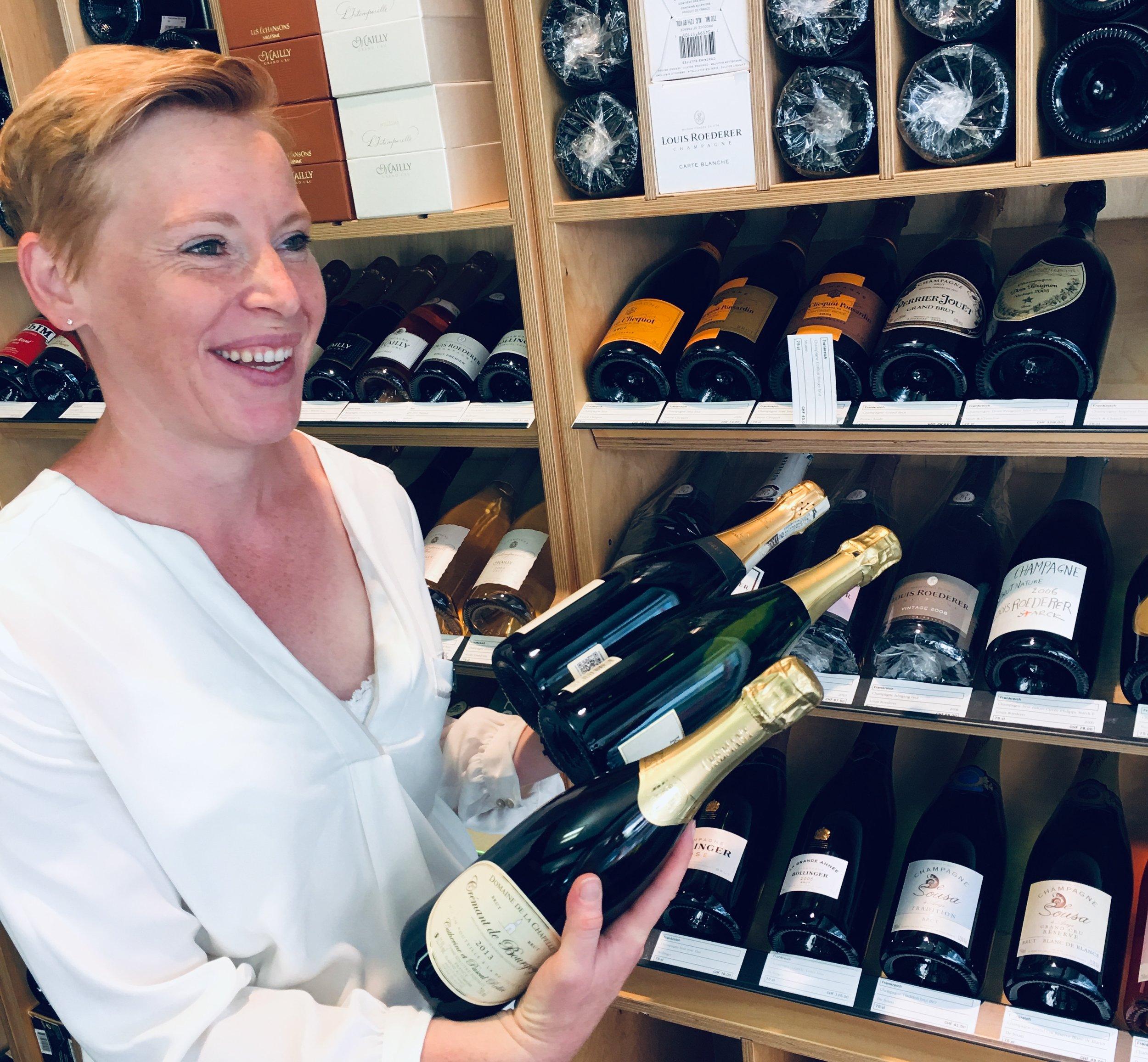 Thanks Sandie for being the Wine Guru on Wheels - happy wine shopper!