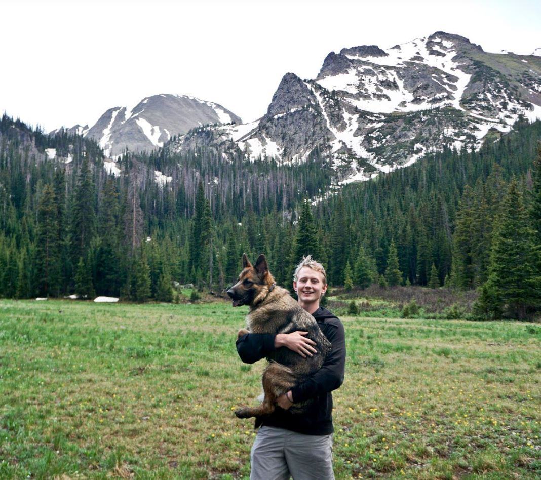 Me and Miah after hiking a few miles through State Forest State Park in Colorado.