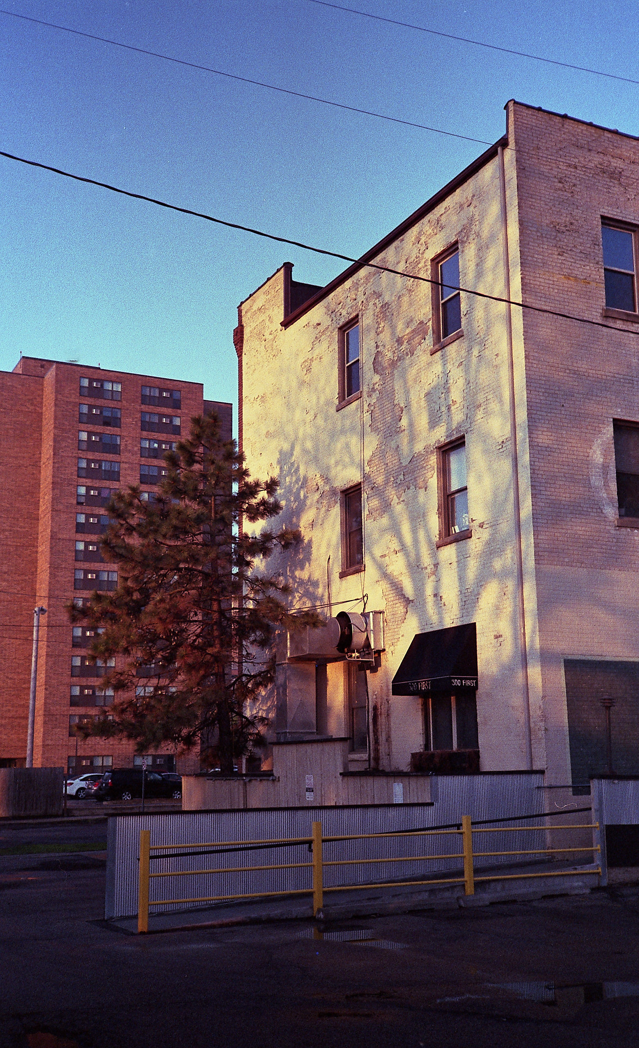 Fuji Superia 400. My therapists building is incredibly photogenic in the morning light.