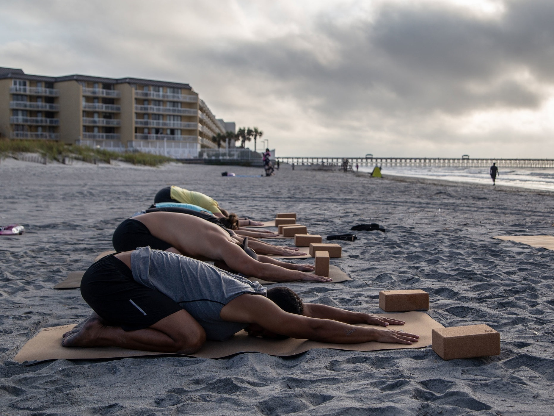 Wellness - In addition to Surf Therapy, WSF provides one on one wellness training, and group yoga classes. Focusing on mindfulness and resiliency, these offerings empower our Veterans to maintain a healthy lifestyle, regardless of whether the ocean is close by.