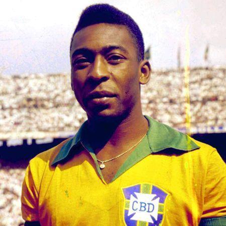 Ο Pele με τα χρώματα της Εθνικής Βραζιλίας