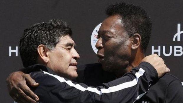 Αγκαλιά μεταξύ Maradona και Pele