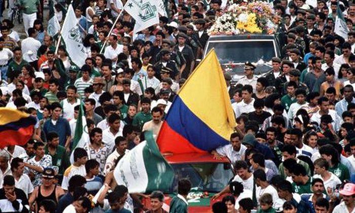 Πλήθος κόσμου στην κηδεία του Εσκομπάρ