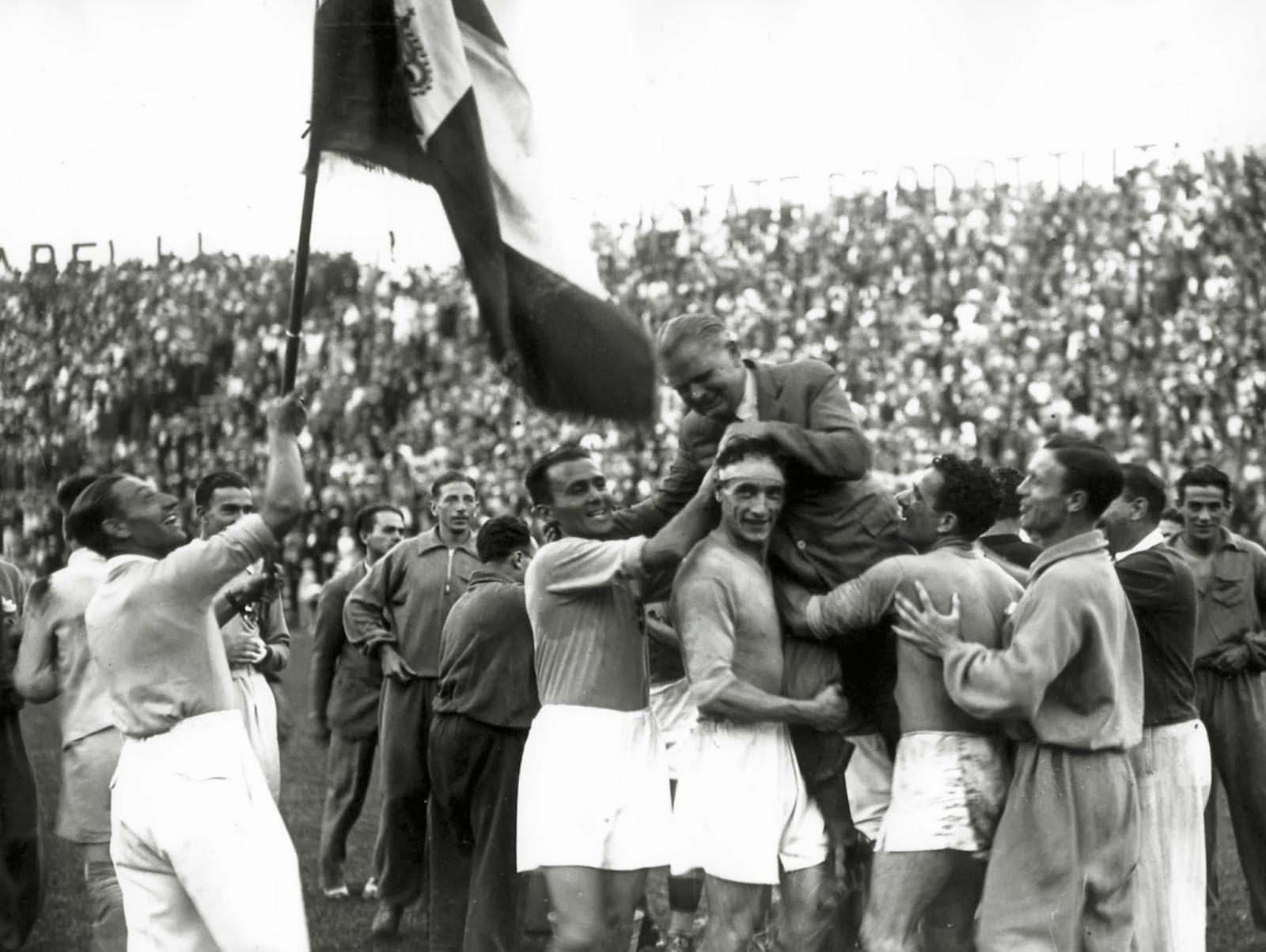 Πανηγυρισμοί της Εθνικής Ιταλίας μετά την κατάκτηση του Μουντιάλ του 1934