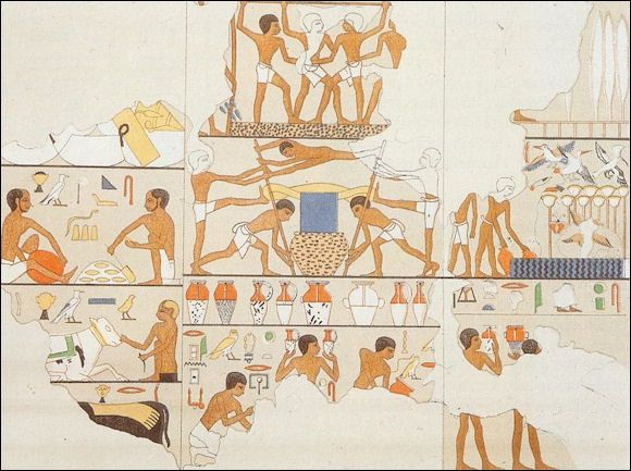 The brewing process in Ancient Egypt