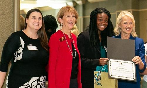 Pauline Tartaglia, Sharon Kelly Hake, Dorcas Olatunji and Lt. Governor Bethany Hall-Long