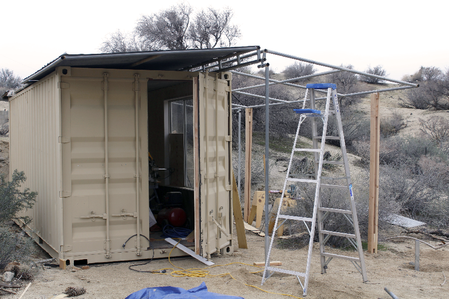 Artist Shelter in Progress