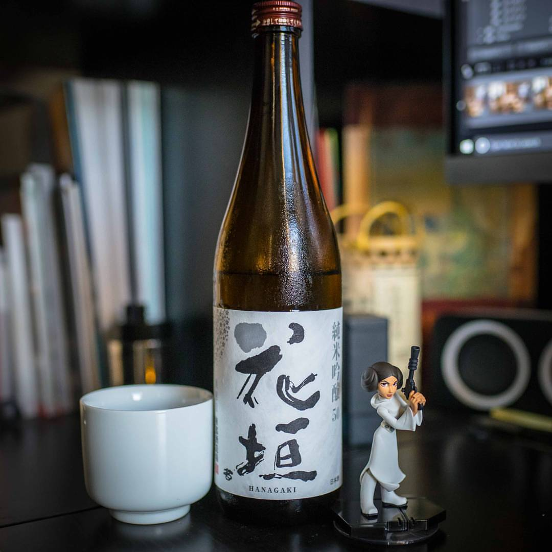 Sipping Hanagake's wonderfully complex Junmai Ginjo (thanks to our friends at @gosakeman )while we prep for tomorrow night's happy hour at @rabbithouse_nyc where we will be pouring some delicious summer sake. #sake #summersake #sakesummer #junmaiginjo #leia #日本酒 #happyhour