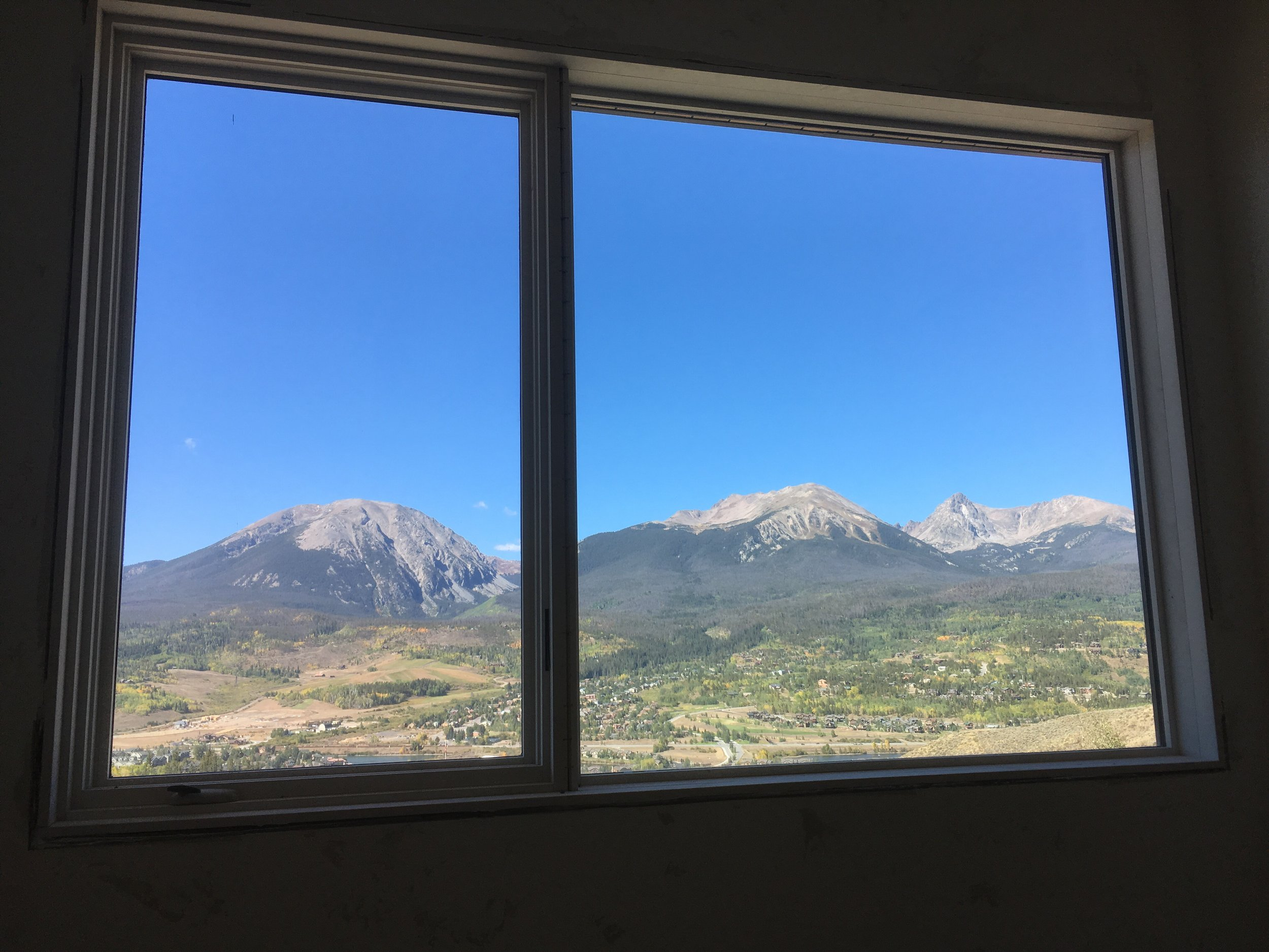 The morning view from the downstairs guestroom