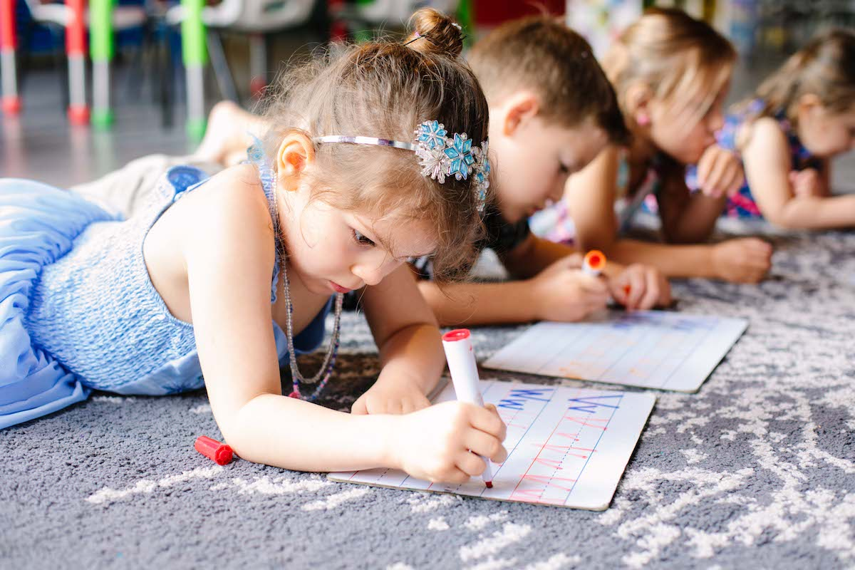 Academic Learning - - Phonics learning (sounding out letters/words)-Recognize and write own first and last name-Dolch sight words learning (pre-primer and primer)-Being able to count up to 100-Familiar with basic shapes-Familiar with primary and secondary colors