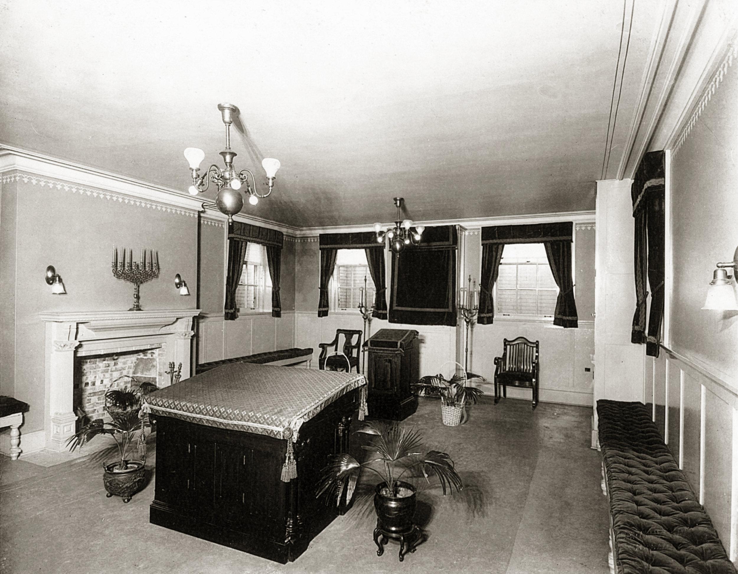 David R. Travis home - downstairs Ballroom and Synagogue