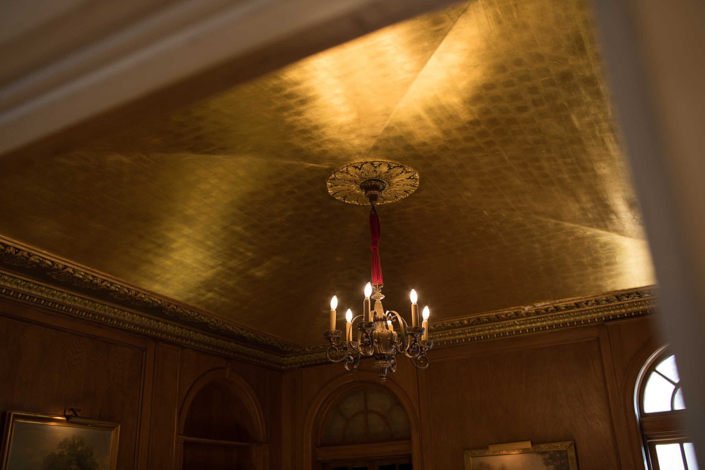 The Gold Room ceiling.