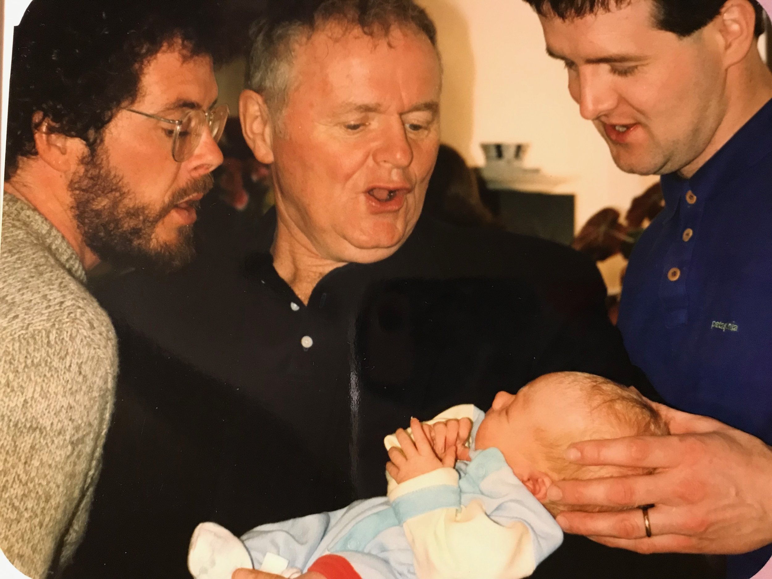 My Uncle Patrick and Grandaddy with baby me