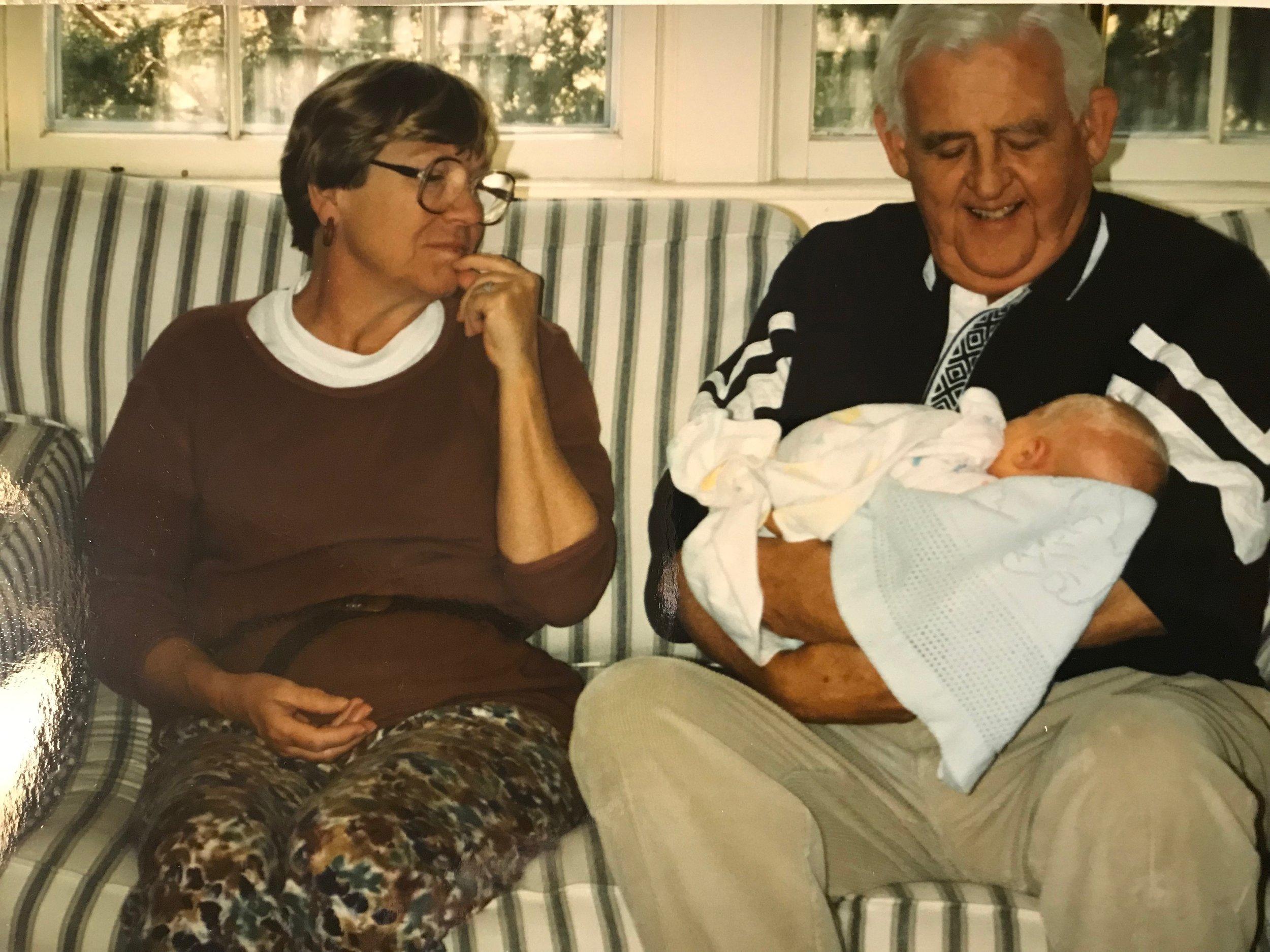 Grandma and Grandpa meeting Ellen