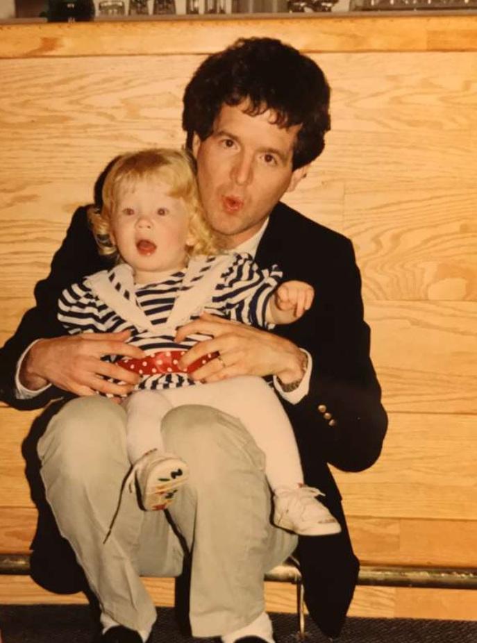My papa and me cuttin' up