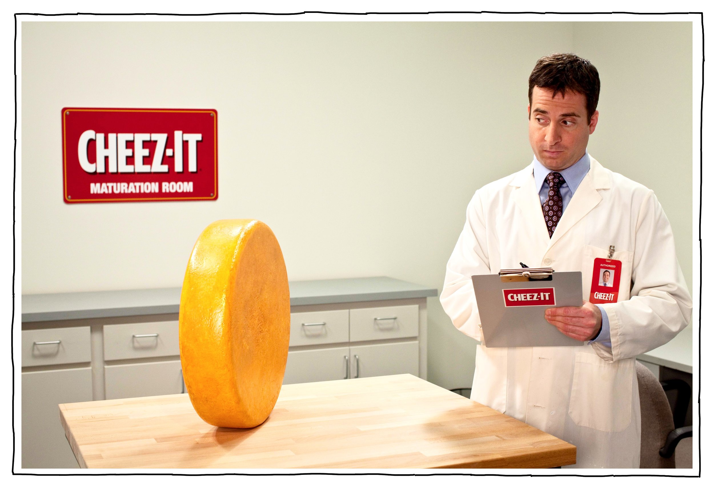 from commercial campaign for Cheez-It