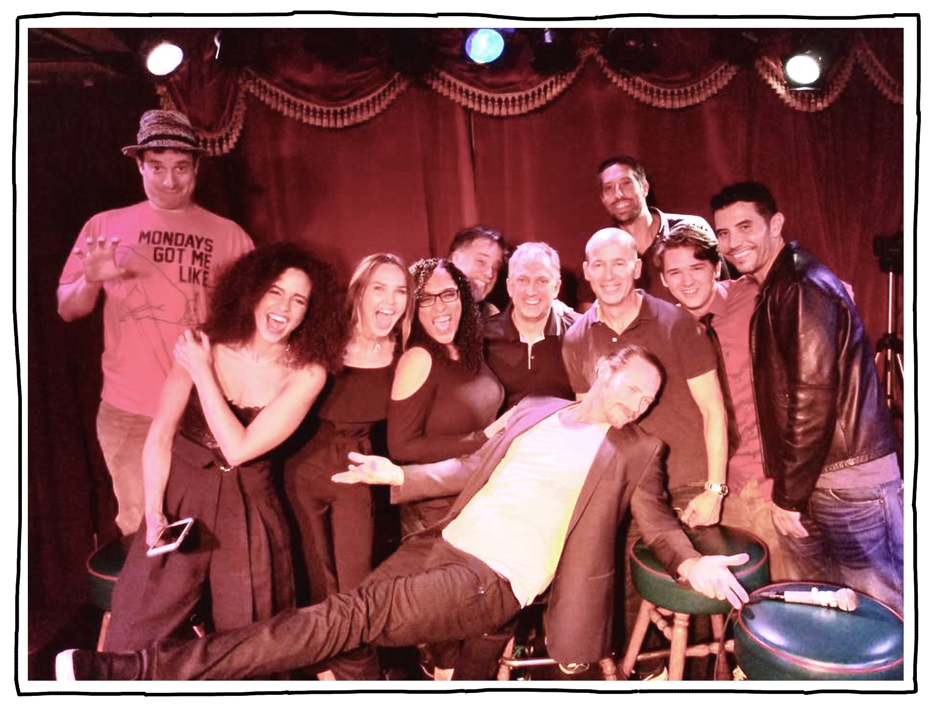 The cast/crew of Midnight, Texas 2018 (Joe far left)