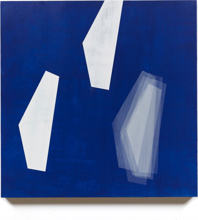 Form Study (floating whites on dark blue), 2013, 18x18