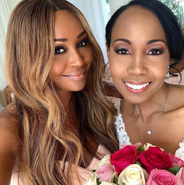 Much love and blessings to my sister/friend @cynthiabailey10 on her recent engagement to @itsmikehill! In over 20 years of knowing her, I've never seen her experience the soul connecting love that she has with Mike. Finding your soulmate is such a beautiful feeling and I'm so happy that @iamsteveharveytv brought you two together. Thank you @itsmikehill for treating her like the Queen she is.  I can't wait to see you walk down the aisle and become one with the love of your life! @scottdavidrob and I love you both and wish you everlasting love & happiness!! ❤️❤️🥰🥰😘😘