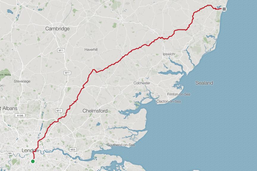 RMNC walberswick express   Distance: 201.7km. Elevation: 1,776m.