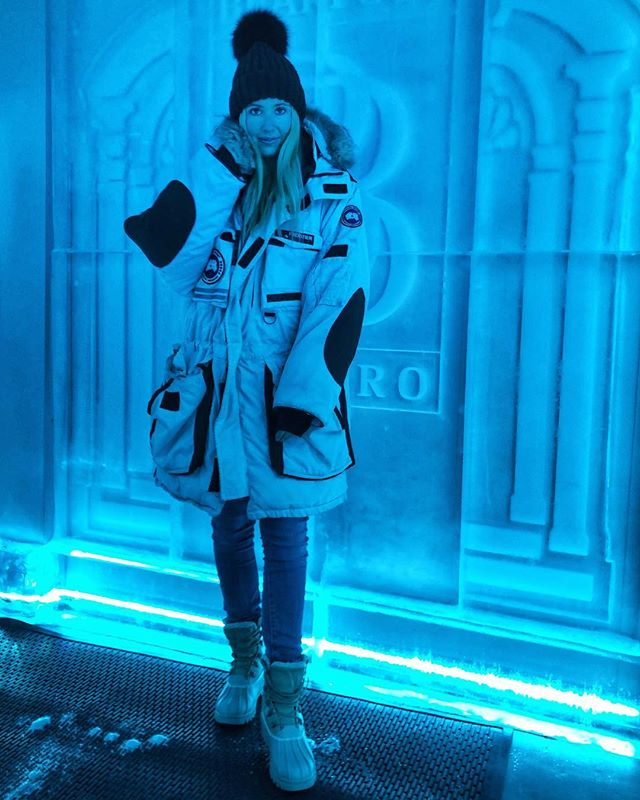Got that -29 degrees 📸 Coldest Vodka Room in the world ❄️