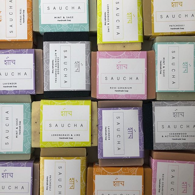 All the soaps.  All handmade, all natural, palm oil free, supporting @yogastopstraffick @breastcancerhaven