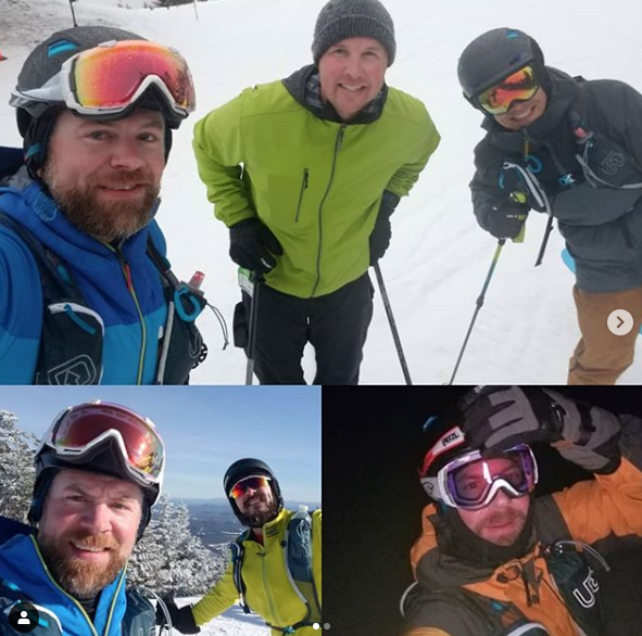 Skimo - Tristar Athletes Northeast Brad Albus, Jeff and Bryan Schleppy vertical skiing and racing this winter.