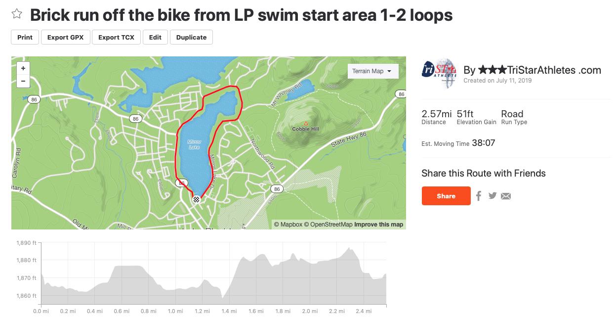 Brick run - Off the 56 or 112mi bike, run ���♂�