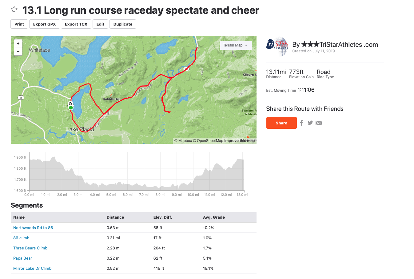 5K���♂�10K��♀�13.1mi run options - Long run out onto the bike course + river rd and back to town.