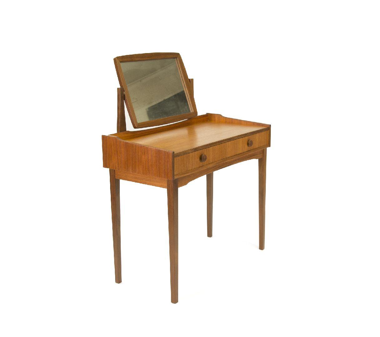 Pretty Vintage Teak Two Drawer Vanity