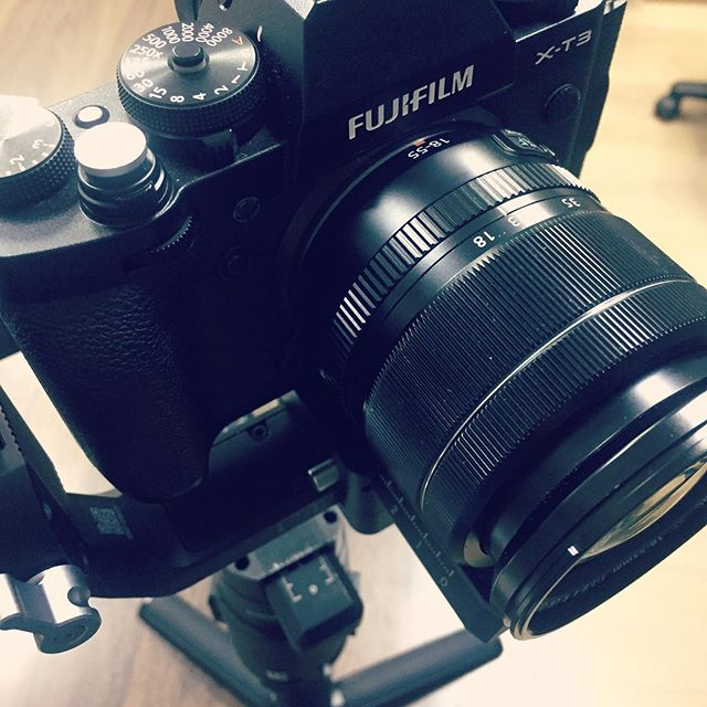 Gearing up @actionfilmzstudiodubai.  Thanks @fujifilm_sa and @heinhough for the support. More to come. * * * #fujixt3 #ronin-s #cinemagrapher #dubai