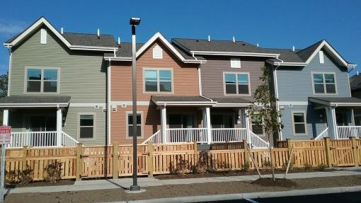 View of completed townhomes