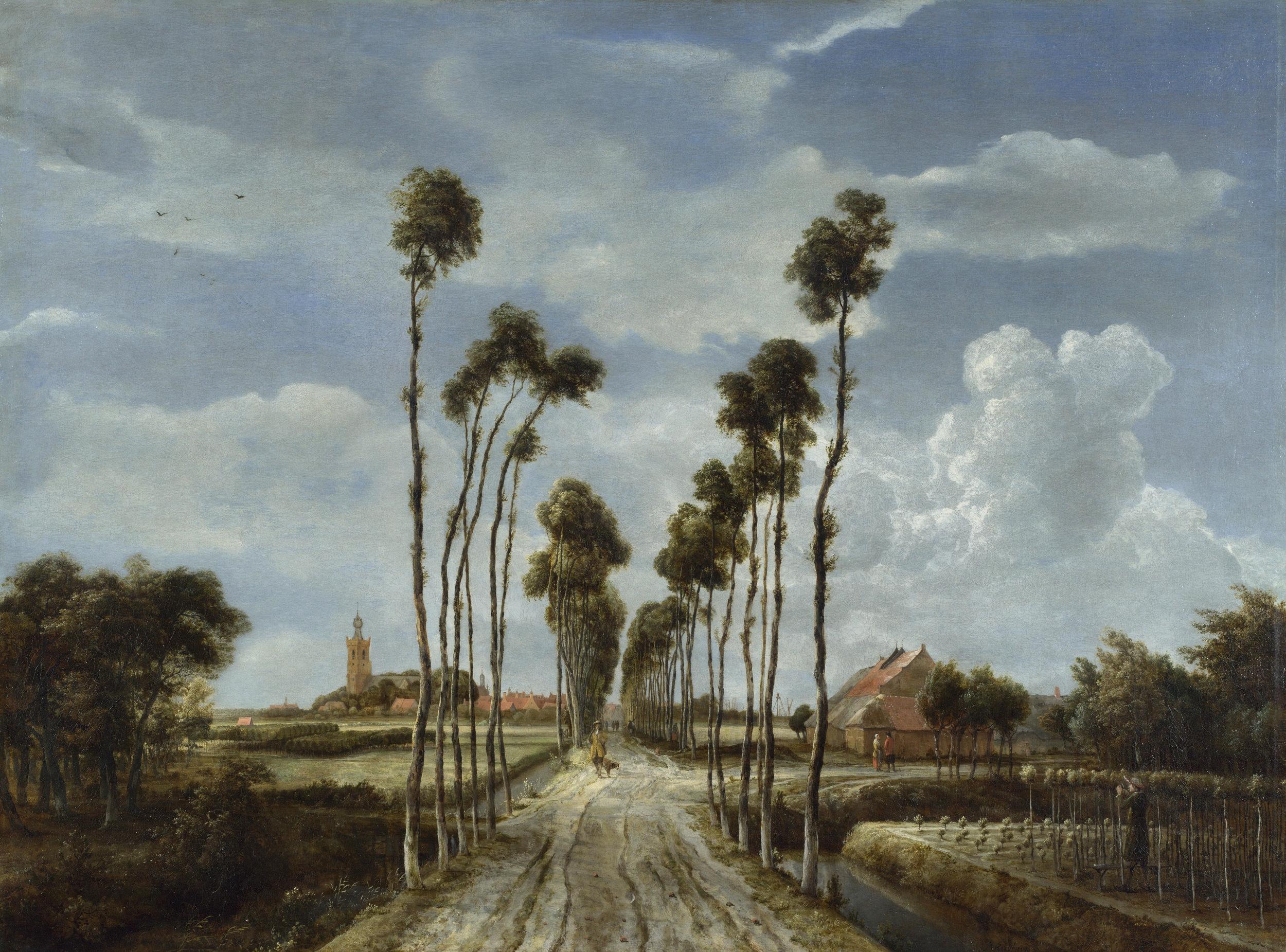 Meindert Hobbema  (1638 – 1709),   The Avenue at Middelharnis     1689