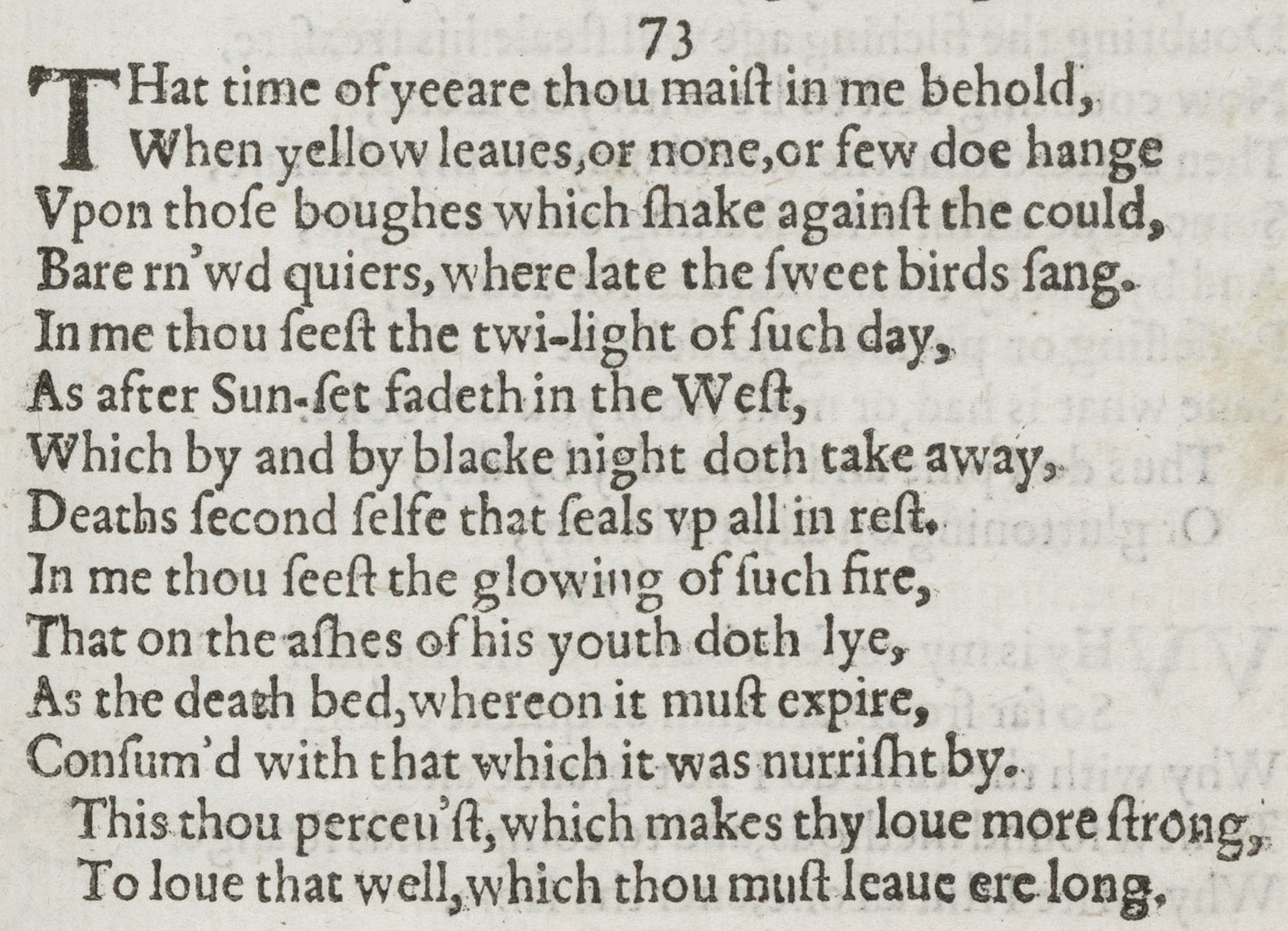 William Shakespeare: Sonnet 73  source