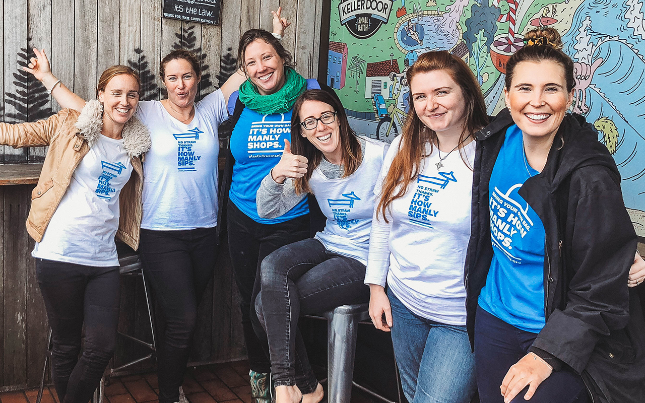 Trained 45 Business Engagement Warriors - We worked with Plastic Free Manly to harness the enthusiasm of the STRAWkle Squad and give them the tools and training to talk to local businesses and empower them to ditch the plastic straw.