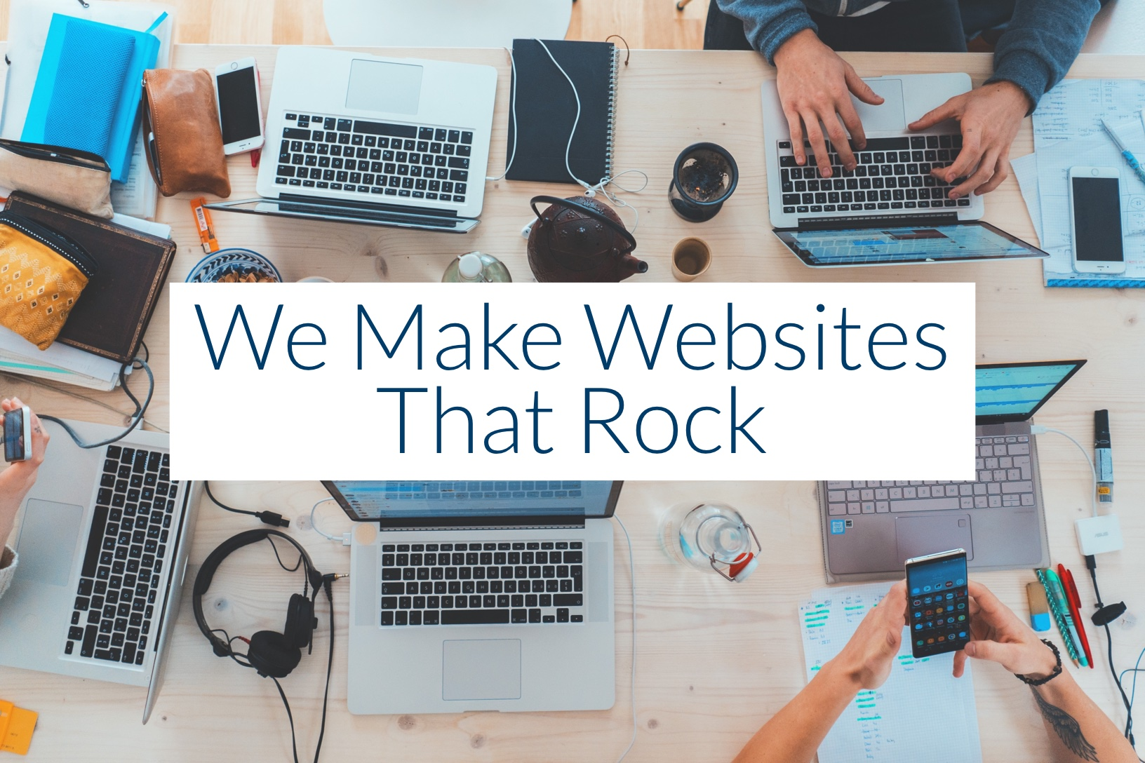We make a new website for your business from scratch. No cookie cutter websites, outsourcing, or easy work here. Everything is done in-house. We focus on you.