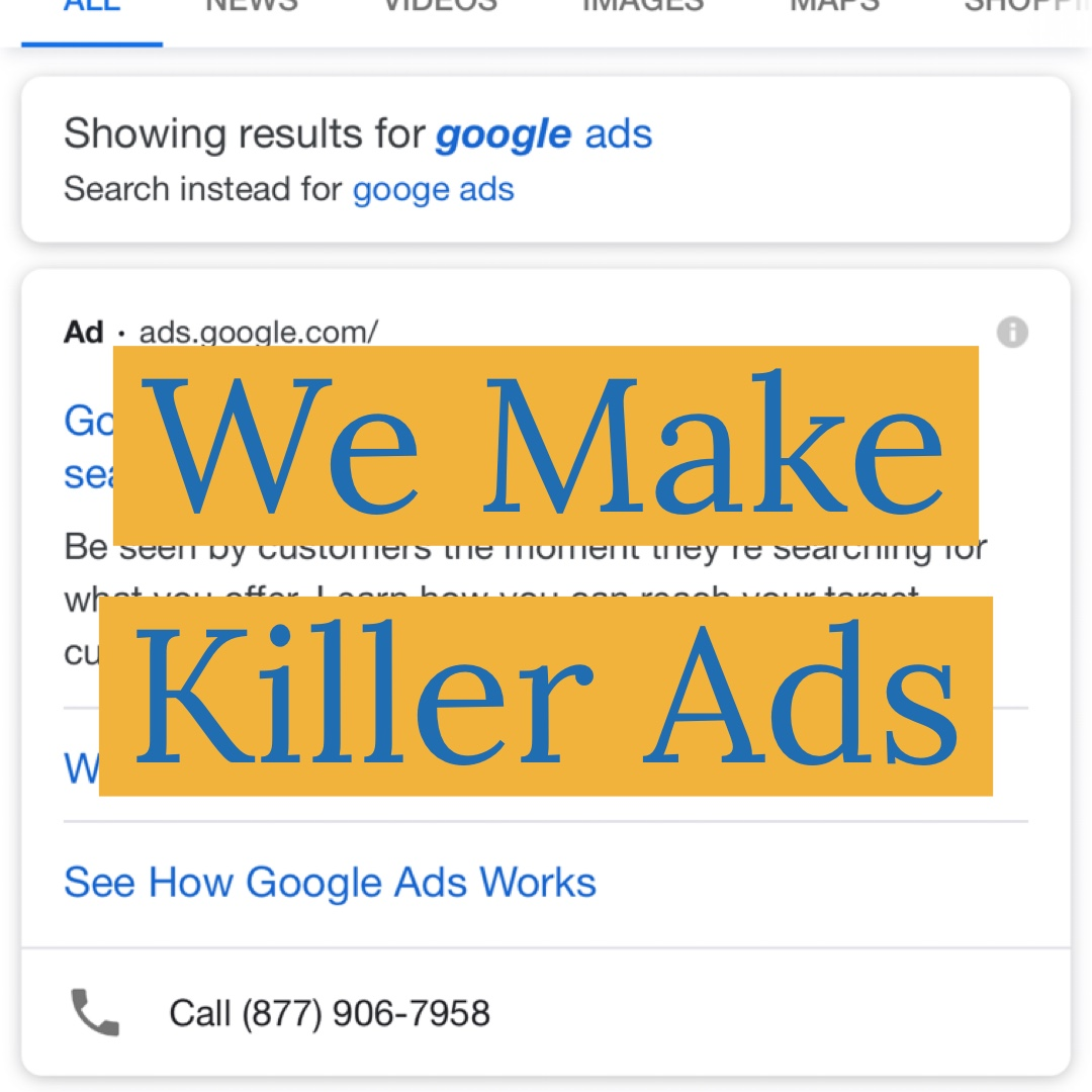 Let's face it. Google AdWords can cost a lot of money if you do it alone. We make your campaign from scratch. Everyone promises low clicks at the top right? We build your ads for success.