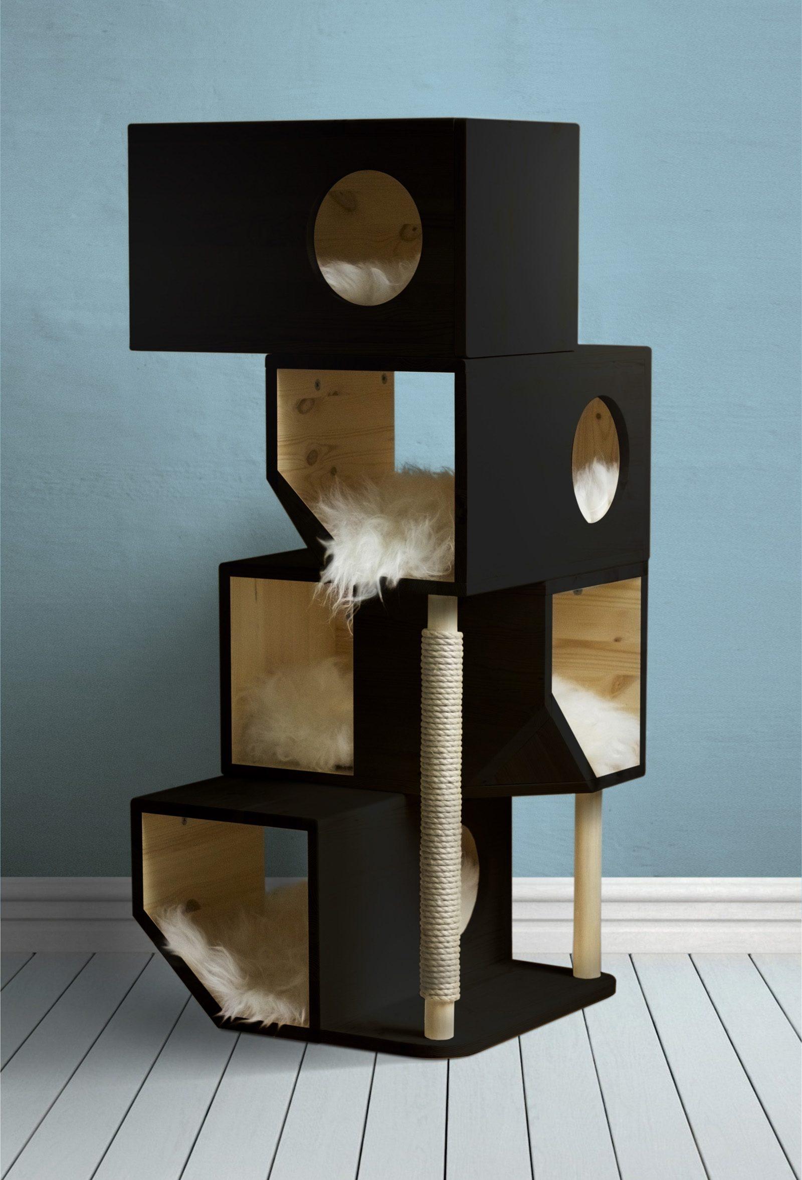 Freestanding 4 storey cat house  by Catissa